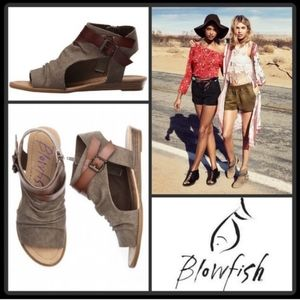 Malibu Blowfish Balla Khaki Boho Sandals 10